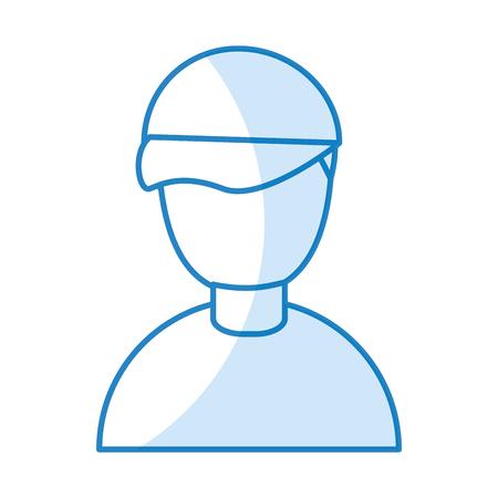 Kleine jongen avatar karakter vector illustratie ontwerp Stock Illustratie
