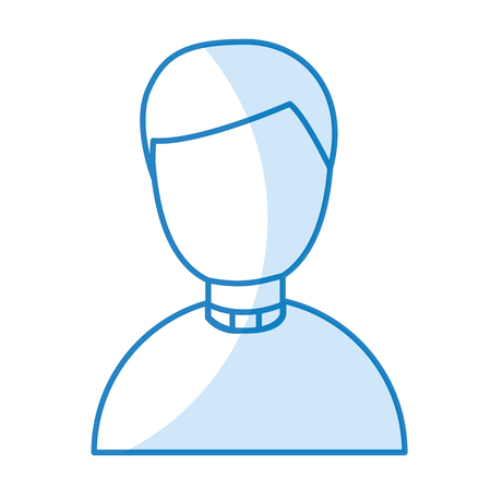 cute priest avatar character vector illustration design