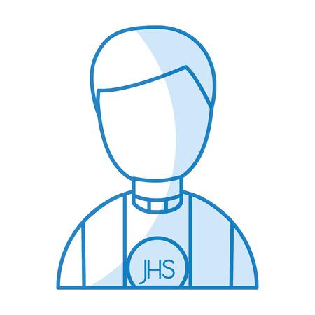 cute priest avatar character vector illustration design Stock Vector - 78659469