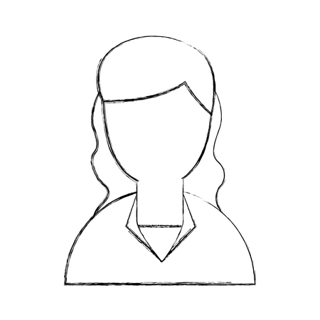 young woman avatar character vector illustration design Stok Fotoğraf