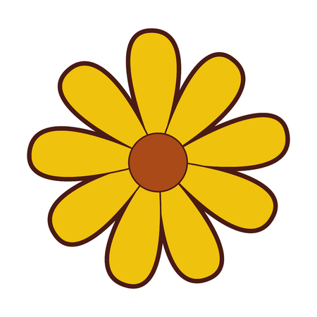 cute sunflower garden isolated icon vector illustration design