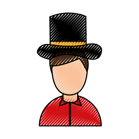 antique gentleman avatar character vector illustration design Illustration