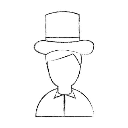funny pictures: antique gentleman avatar character vector illustration design Illustration