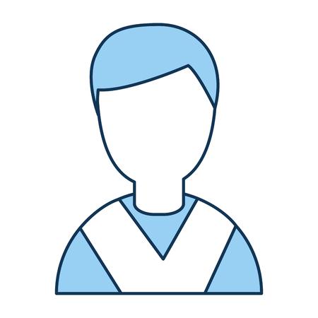 Student afgestudeerd avatar karakter vector illustratie ontwerp
