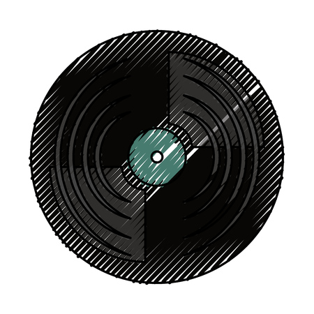 vinyl record turntable icon vector illustration graphic design