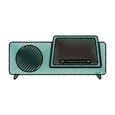 isolated retro radio vector illustration graphic design Reklamní fotografie - 78696189