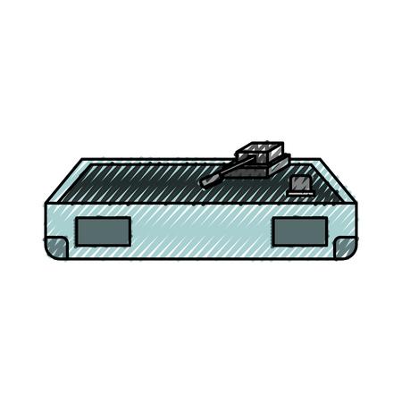 disk jockey turntable icon vector illustration graphic design Çizim