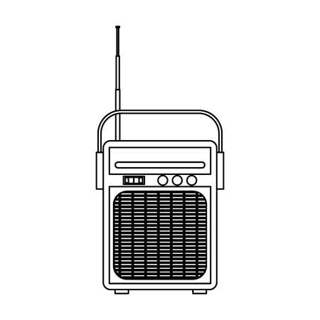 isolated retro radio vector illustration graphic design