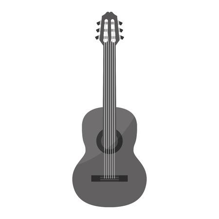 guitar acoustic musical instrument vector illustration graphic design Ilustração
