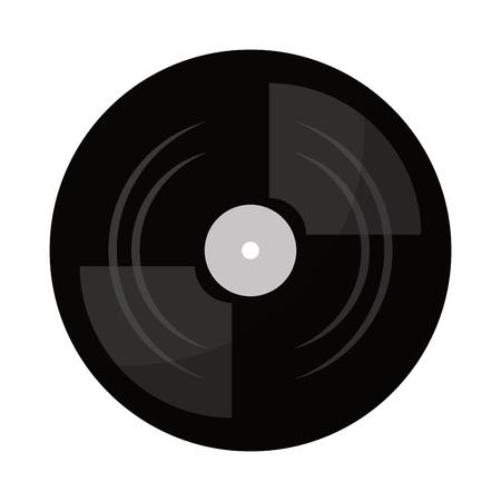 vinyl record turntable icon vector illustration graphic design