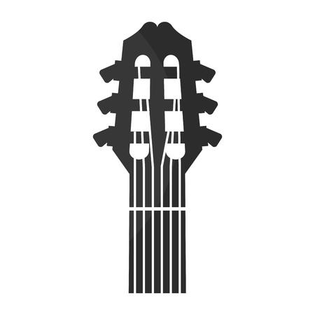 guitar acoustic musical instrument vector illustration graphic design Çizim