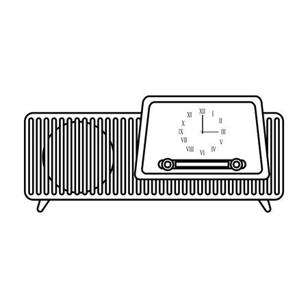 isolated retro radio vector illustration graphic design Reklamní fotografie - 78696399