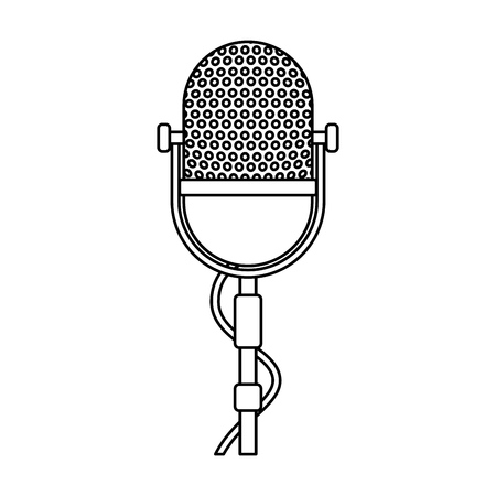 isolated retro stage microphone vector illustration graphic design