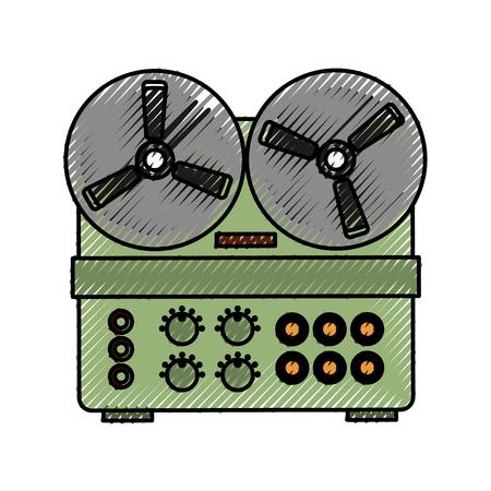 oud retro van de het pictogram vectorillustratie van filmproxy pictogram grafisch ontwerp