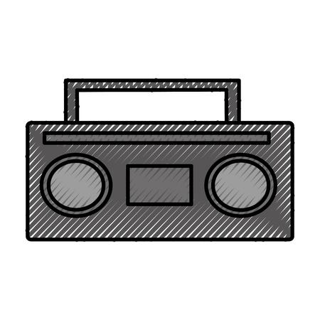 old radio music icon vector illustration design