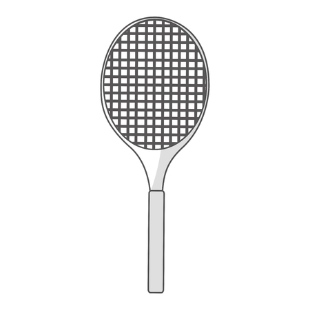 health and fitness: tennis racket isolated icon vector illustration design Illustration