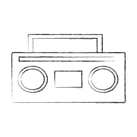 old radio music icon vector illustration design Reklamní fotografie - 78696655