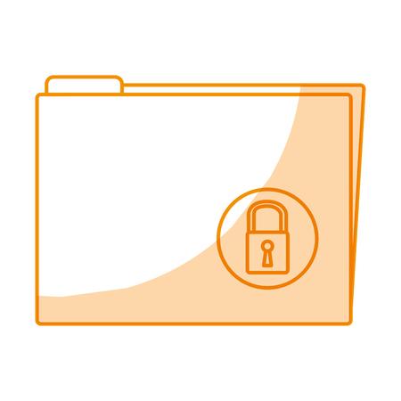 folder with padlock icon vector illustration design