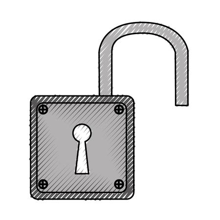padlock unlock isolated icon vector illustration design