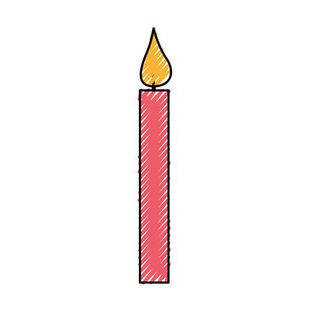 촛불 생일 격리 아이콘 벡터 일러스트 디자인
