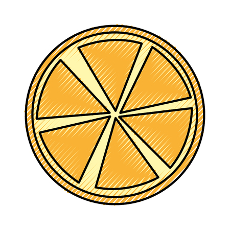 slice citrus fruit icon vector illustration design Ilustração