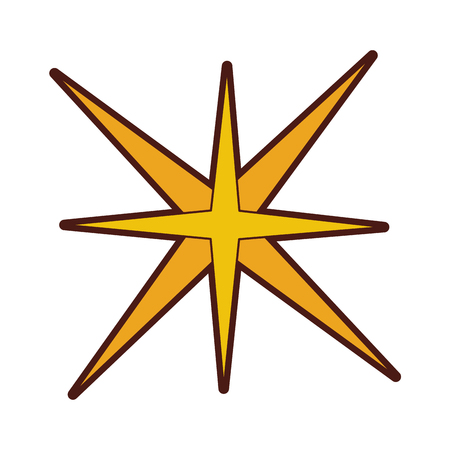 star burst isolated icon vector illustration design Banco de Imagens - 78697782