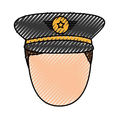 army officer avatar character vector illustration design Ilustração