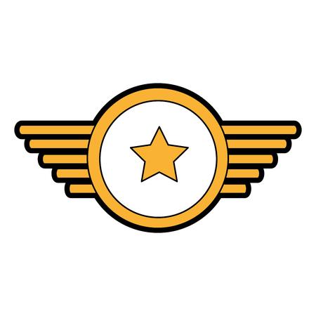 날개 벡터 일러스트 디자인과 해군 메달