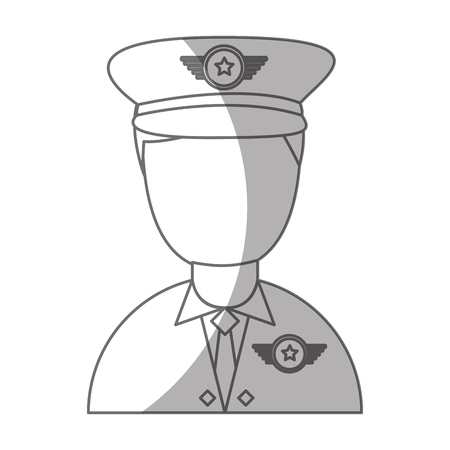 army officer avatar character vector illustration design Ilustrace