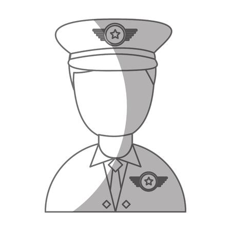 army officer avatar character vector illustration design Illustration