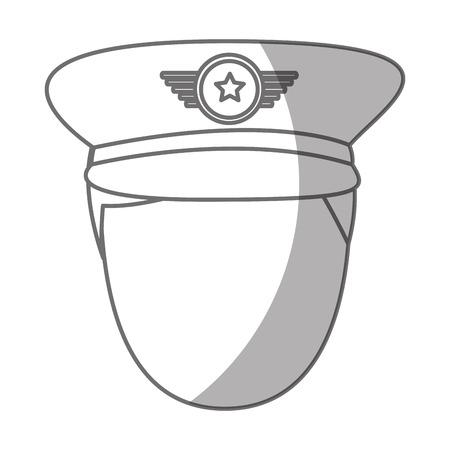 陸軍将校のアバター文字ベクトル イラスト デザイン