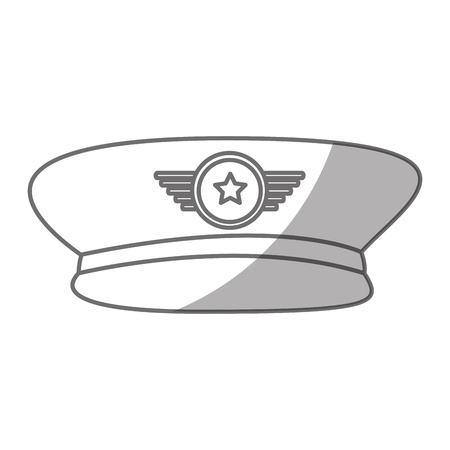 陸軍将校の帽子アイコン ベクトル イラスト デザイン