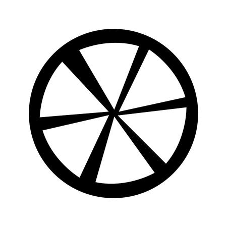slice citrus fruit icon vector illustration design Çizim