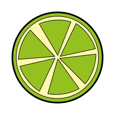 slice citrus fruit icon vector illustration design Ilustrace
