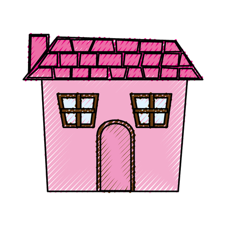house construction: exterior house isolated icon vector illustration design Illustration
