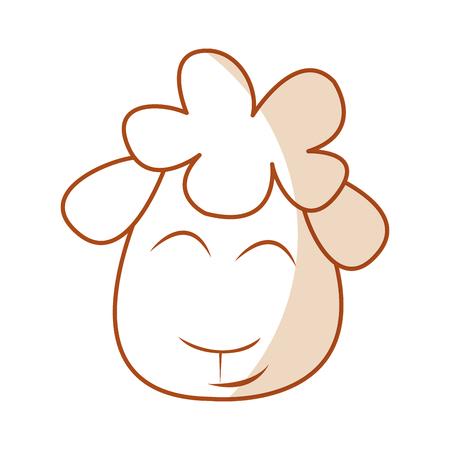 cute sheep drawing character vector illustration design Ilustração