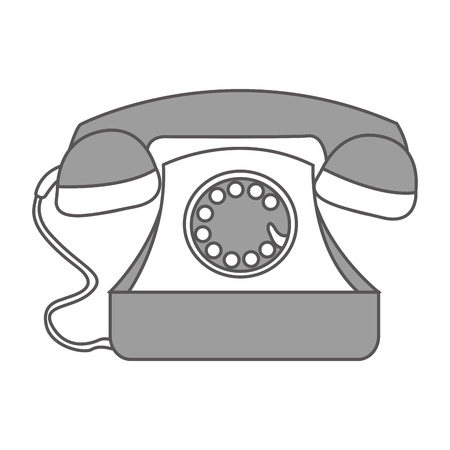 telephone service isolated icon vector illustration design Ilustração