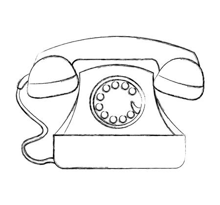 telephone service isolated icon vector illustration design Иллюстрация