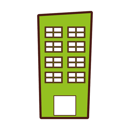 real estate house: exterior building drawing icon vector illustration design Illustration