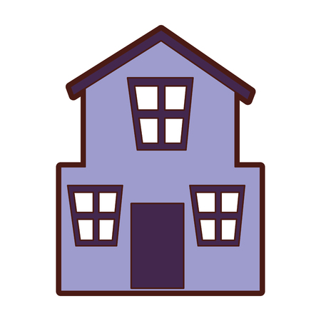 real estate house: exterior house isolated icon vector illustration design Illustration