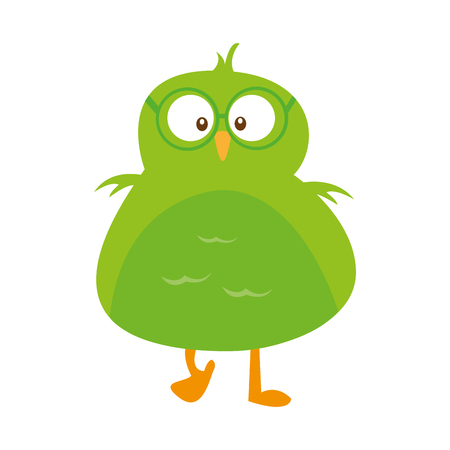 cute bird comic character vector illustration design