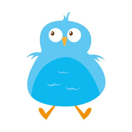 cute bird comic character vector illustration design