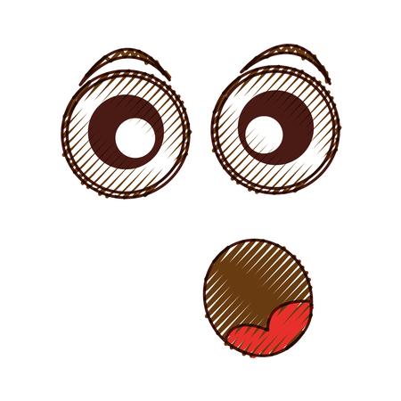 surprised   character vector illustration design Illustration