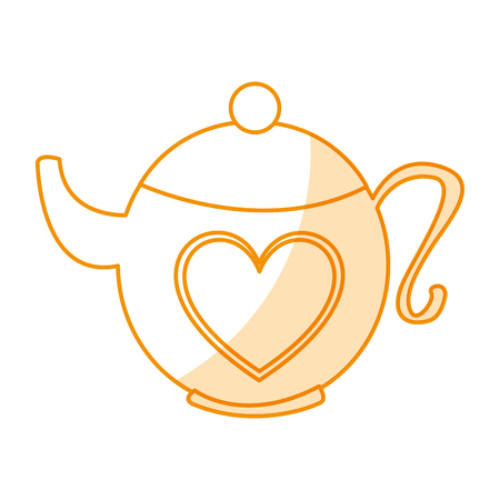 cute teapot isolated icon vector illustration design Illustration