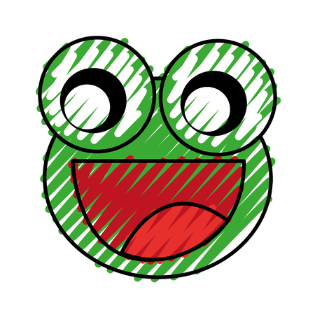 comic frog character icon vector illustration design