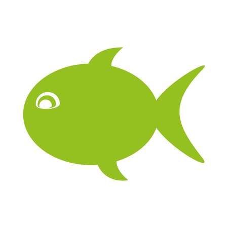 fish silhouette isolated icon vector illustration design