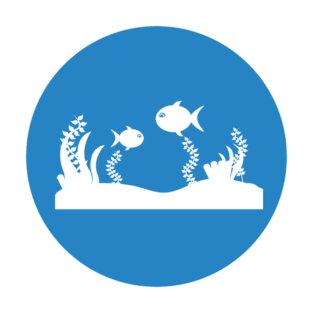 Seafloor scene isolated icon vector illustration design