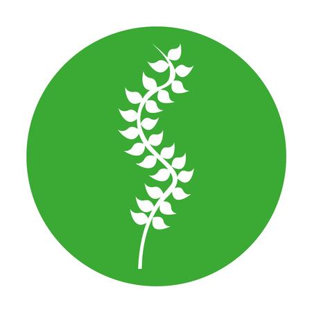 Seaweed silhouette isolated icon vector illustration design Çizim