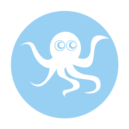 cute octopus isolated icon vector illustration design