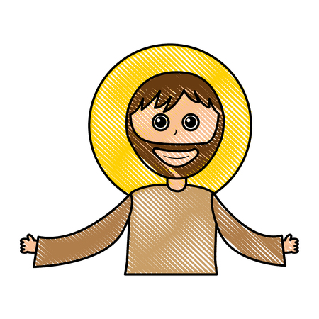 saint joseph manger character vector illustration design Illustration